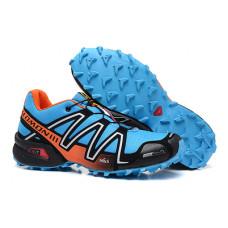 Salomon Speedcross 3 голубой с оранжевым
